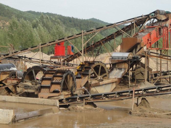 2816轮斗洗砂机生产线